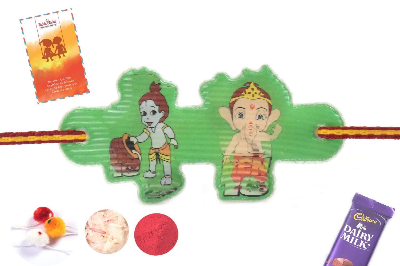 3D Ben10-Ganesha-Krishna Rakhi 1