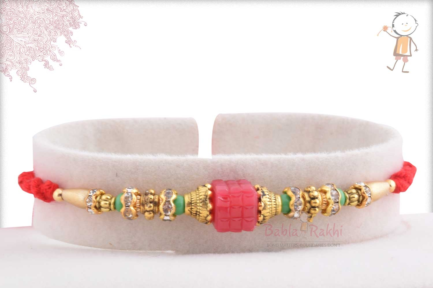 Exclusive Pink Bead with Diamonds 1