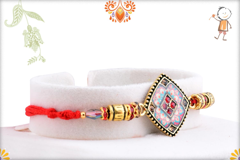 Aishwarya Gold And Multi-Color Rakhi 2