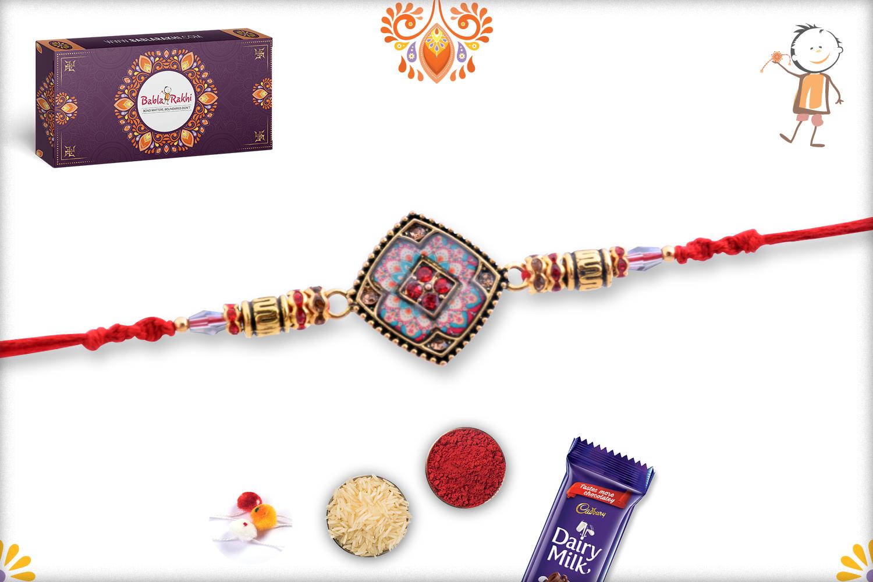 Aishwarya Gold And Multi-Color Rakhi 3
