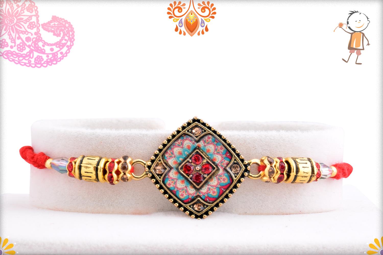 Aishwarya Gold And Multi-Color Rakhi 1