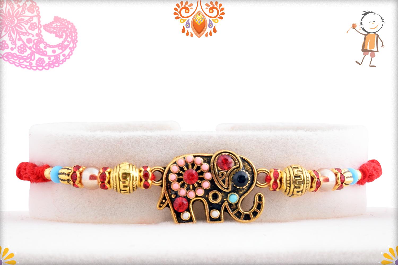 Elegant And Designer Elephant Rakhi 1