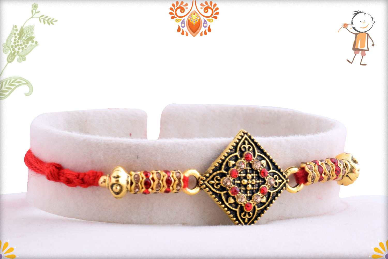 Classic Designer Diamond Shape Rakhi 2