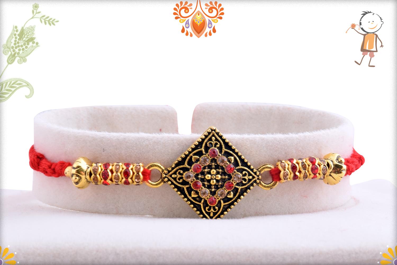 Classic Designer Diamond Shape Rakhi 1