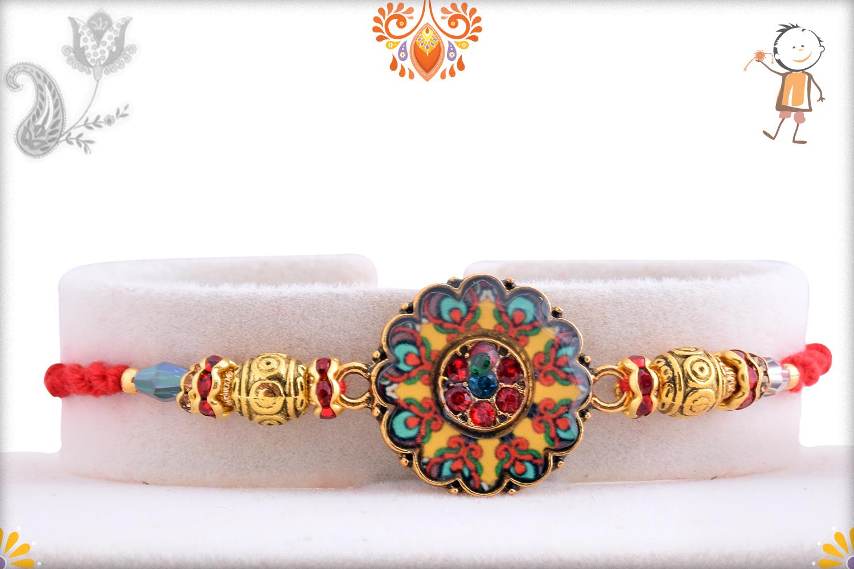 Colorful Radiant And Golden Rakhi 1