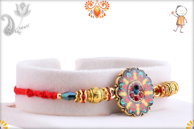 Colorful Radiant And Golden Rakhi 2