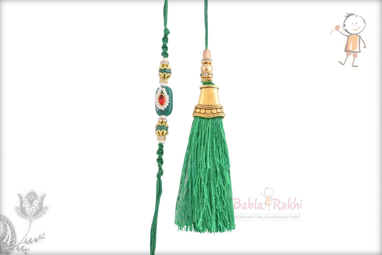 Exclusive Green Bhaiya Bhabhi Rakhi 1