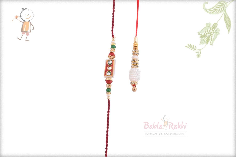 Exclusive Red-White Bhaiya Bhabhi Rakhi 1