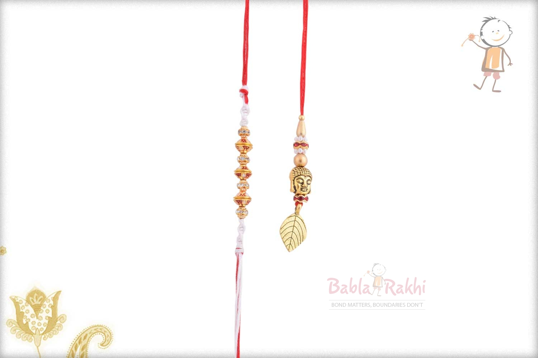 Exclusive Meenakari Bhaiya Rakhi with Buddha Bhabhi Rakhi 1