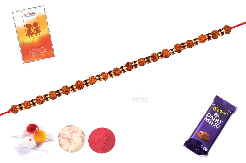 Rudraksh Bracelet-Style Rakhi 1