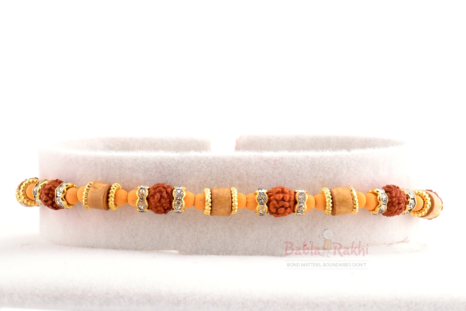 Fine Finishing Wooden Beads Rakhi 1