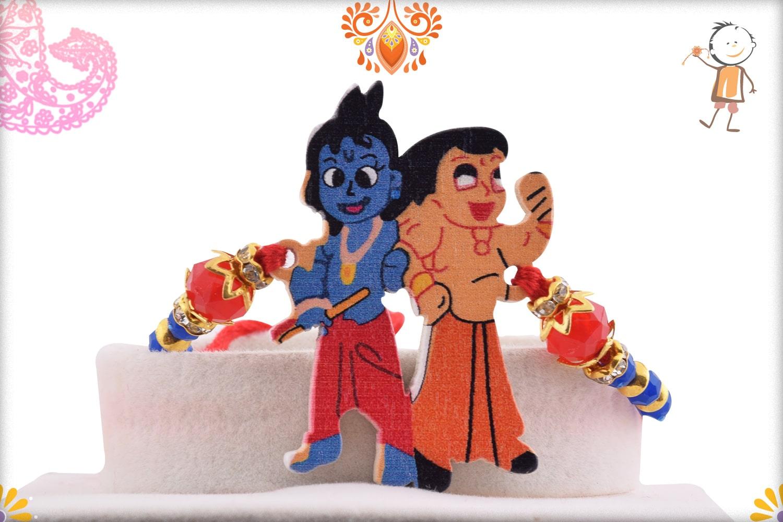 Natkhat Krishna with Chhota Bheem Kids Rakhi - Babla Rakhi