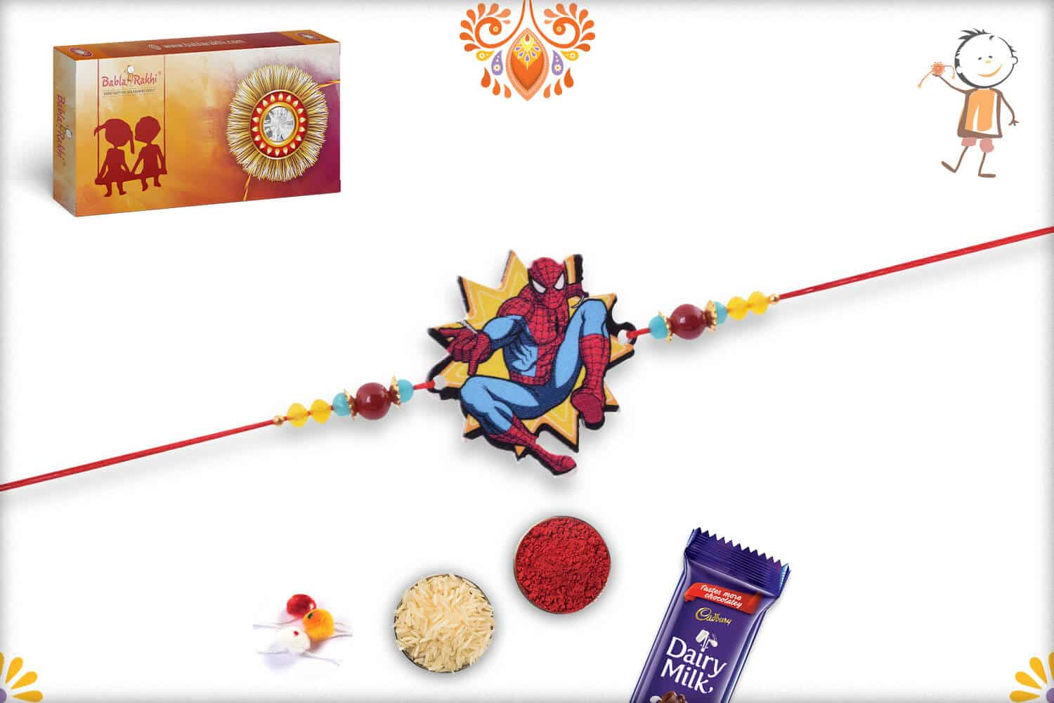 Amazing Spiderman Kids Rakhi - Babla Rakhi