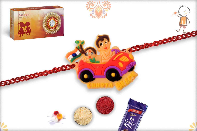 Driving Car Chhota Bheem Kids Rakhi - Babla Rakhi