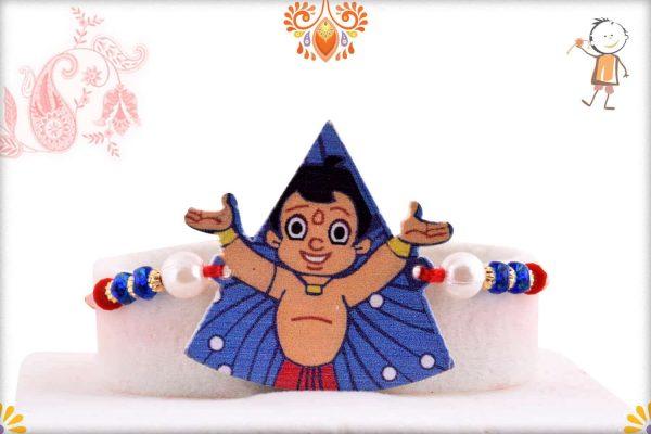 Chhota Bheem Triangle Kids Rakhi - Babla Rakhi