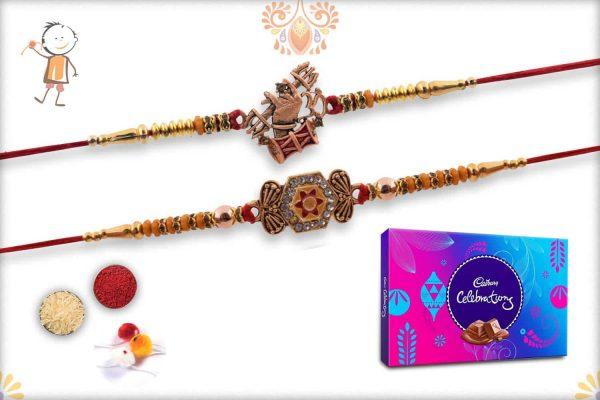 Two Set Rakhi with Cadbury Celebrations (Big) - Babla Rakhi