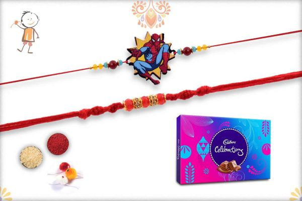 Two Set Rakhi with Cadbury Celebrations (Big) - Babla Rakhi