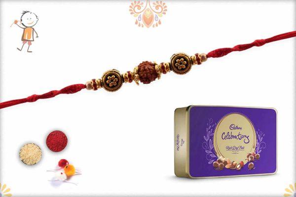 Rakhi with Cadbury Celebrations Rich Dry Fruits - Babla Rakhi