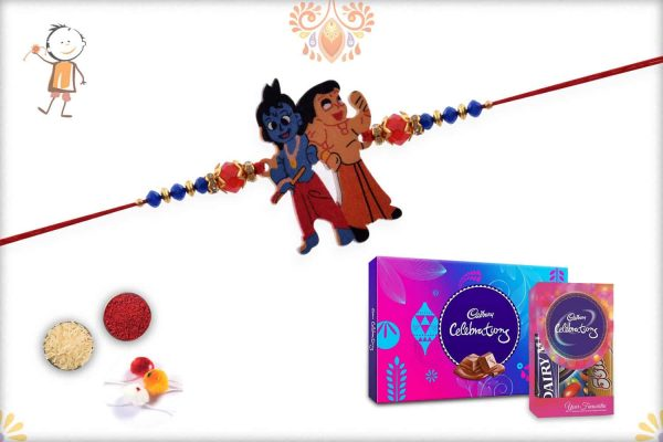 Kids Rakhi with Cadbury Celebrations (Small + Big) - Babla Rakhi