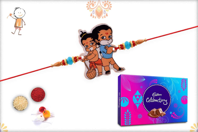 Kids Rakhi with Cadbury Celebrations (Big) - Babla Rakhi