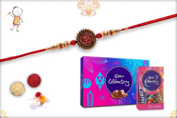 Rakhi with Cadbury Celebrations (Small + Big) - Babla Rakhi
