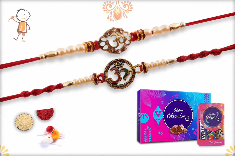 Two Set Rakhi with Cadbury Celebrations (Small + Big) - Babla Rakhi
