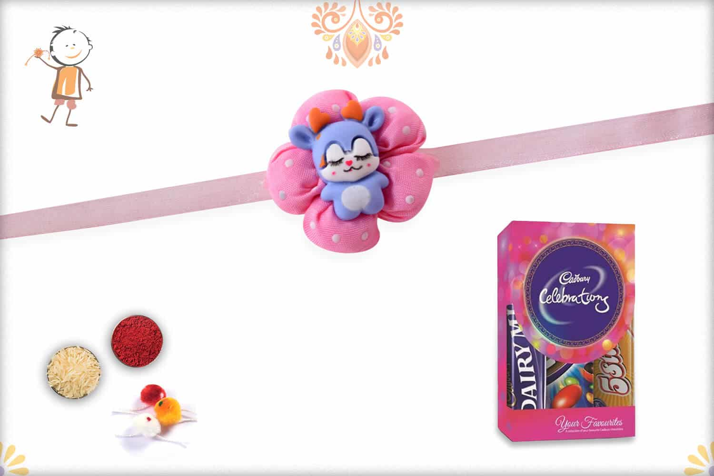 New Born Rakhi with Cadbury Celebrations (Small) - Babla Rakhi