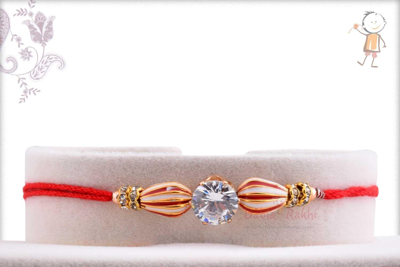 Peppermint Bead Rakhi with Diamond 1