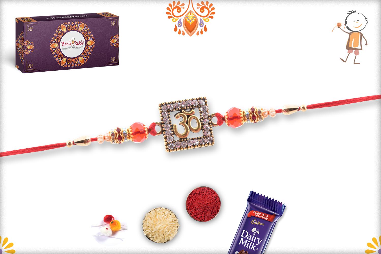 Unique Combination Of Diamond And Copper Om Rakhi 2