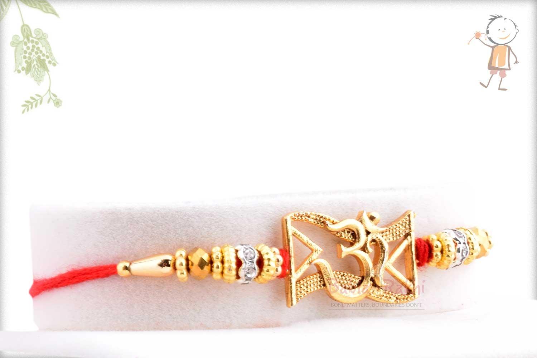 Exclusive OM Rakhi with Beads 2
