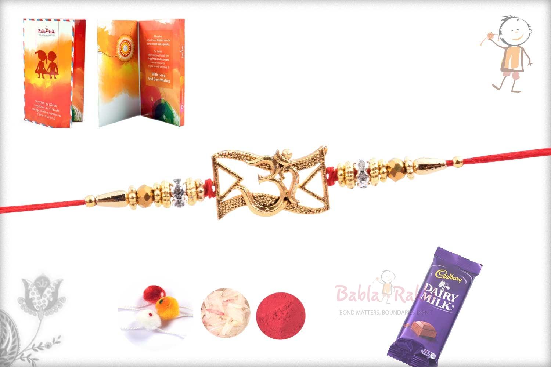 Exclusive OM Rakhi with Beads 3