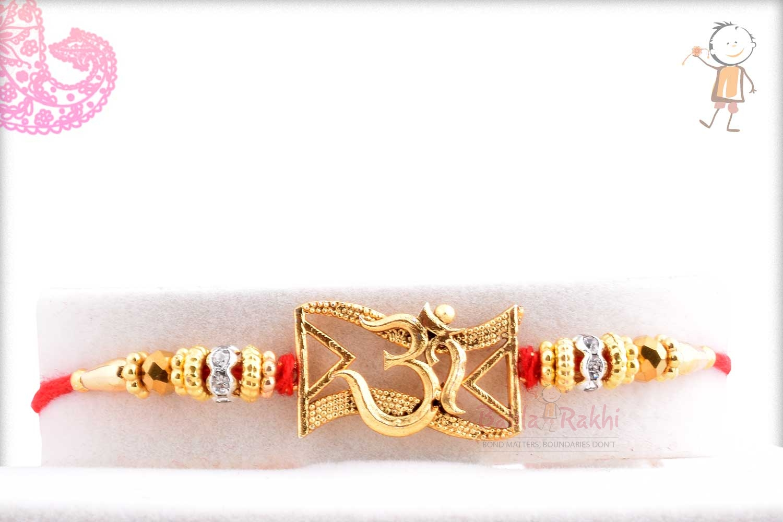 Exclusive OM Rakhi with Beads 1