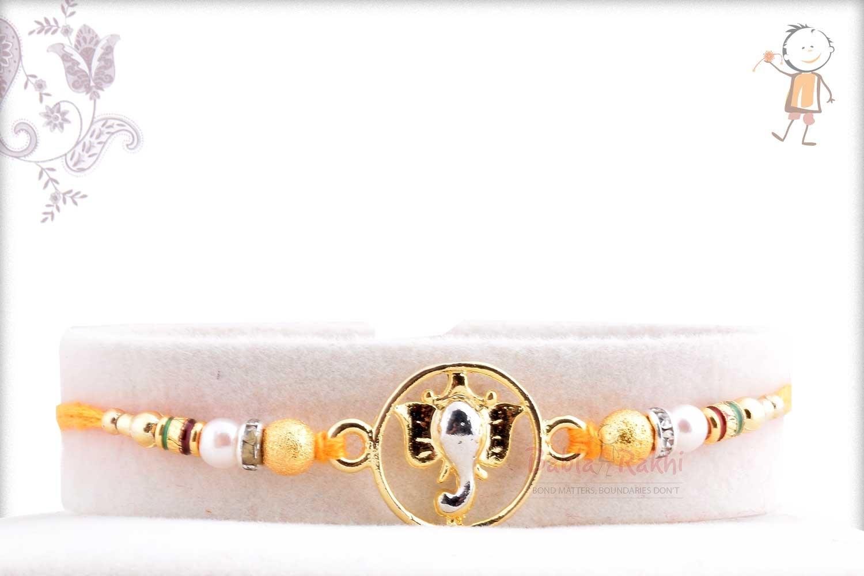 Exclusive Ganeshji Rakhi with Beads 1