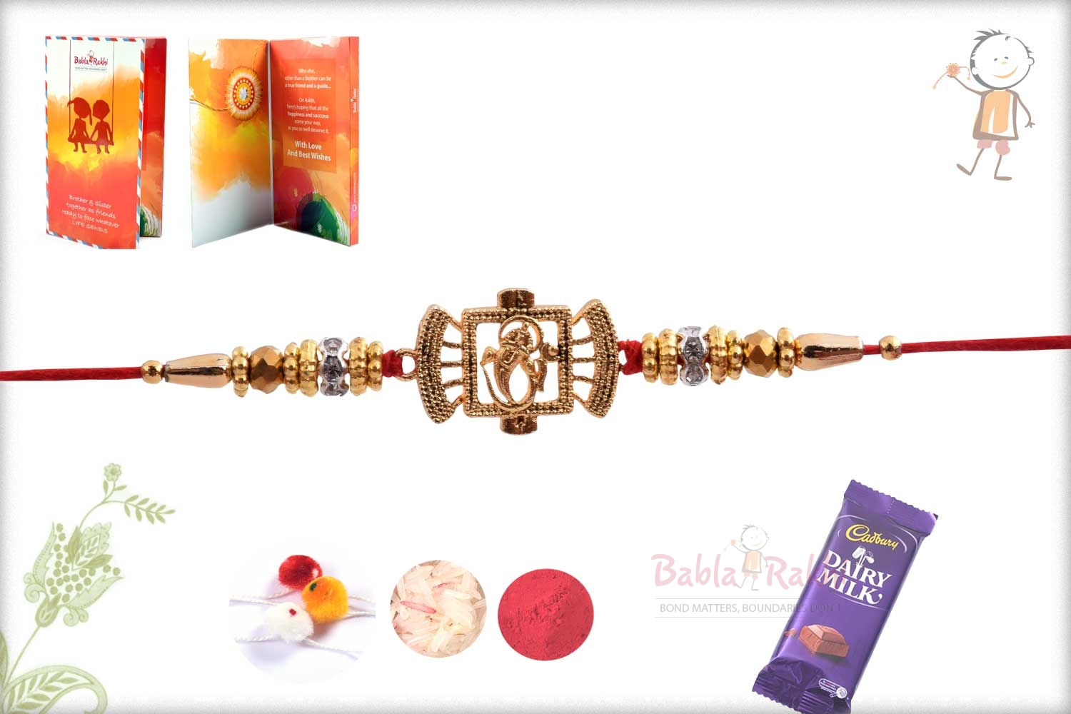 Exclusive Ganpati Rakhi with Diamond Rings 2