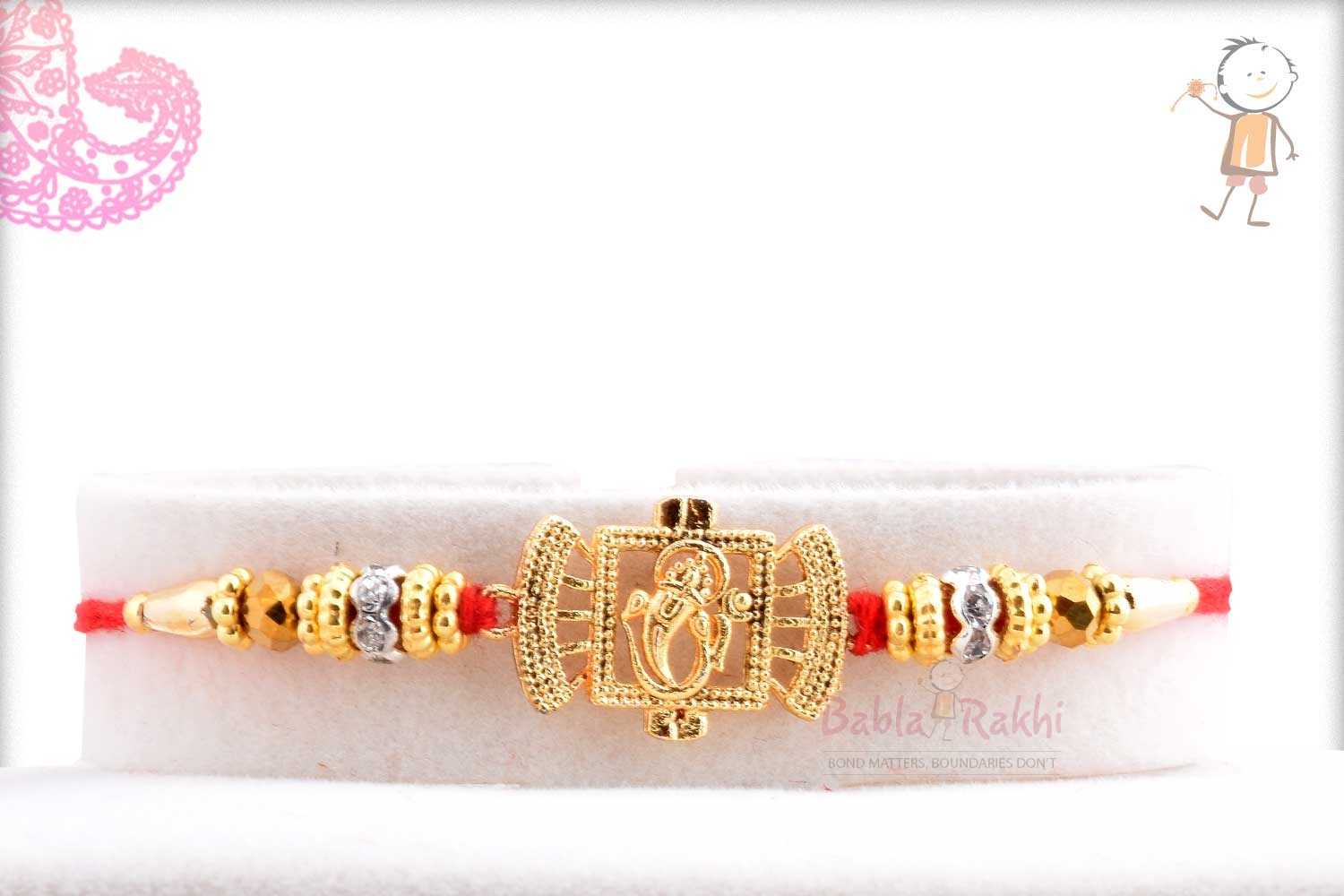 Exclusive Ganpati Rakhi with Diamond Rings 1