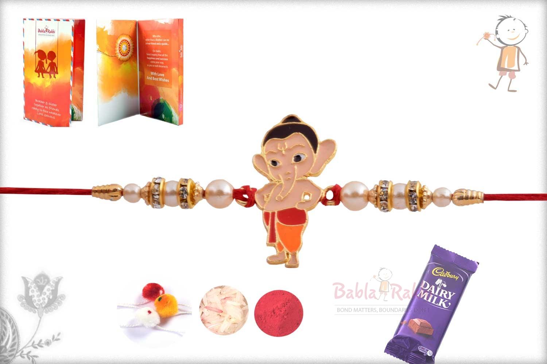 Exclusive My Friend Ganesha Kids Rakhi with Pearls 2