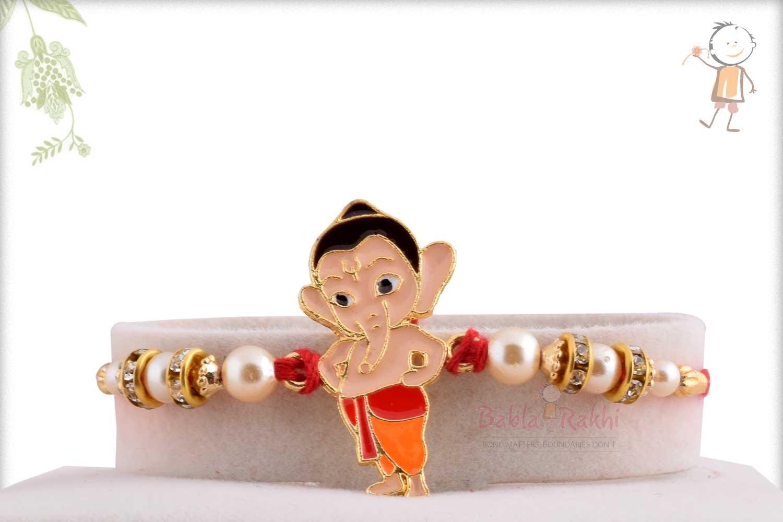 Exclusive My Friend Ganesha Kids Rakhi with Pearls 1