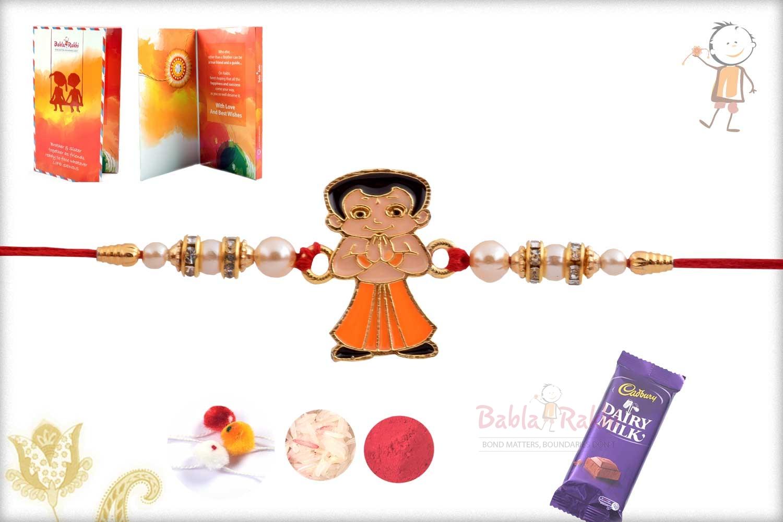 Exclusive Chhota Bheem Kids Rakhi with Pearls 2