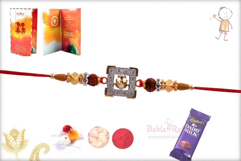Exclusive Ganeshji Rakhi with Rudraksha 3