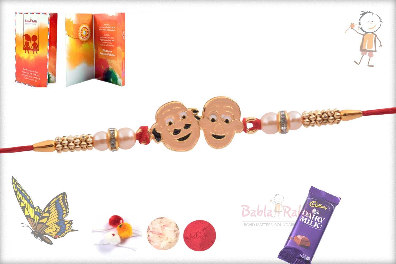 Exclusive Motu Patalu Kids Rakhi with Pearl 2