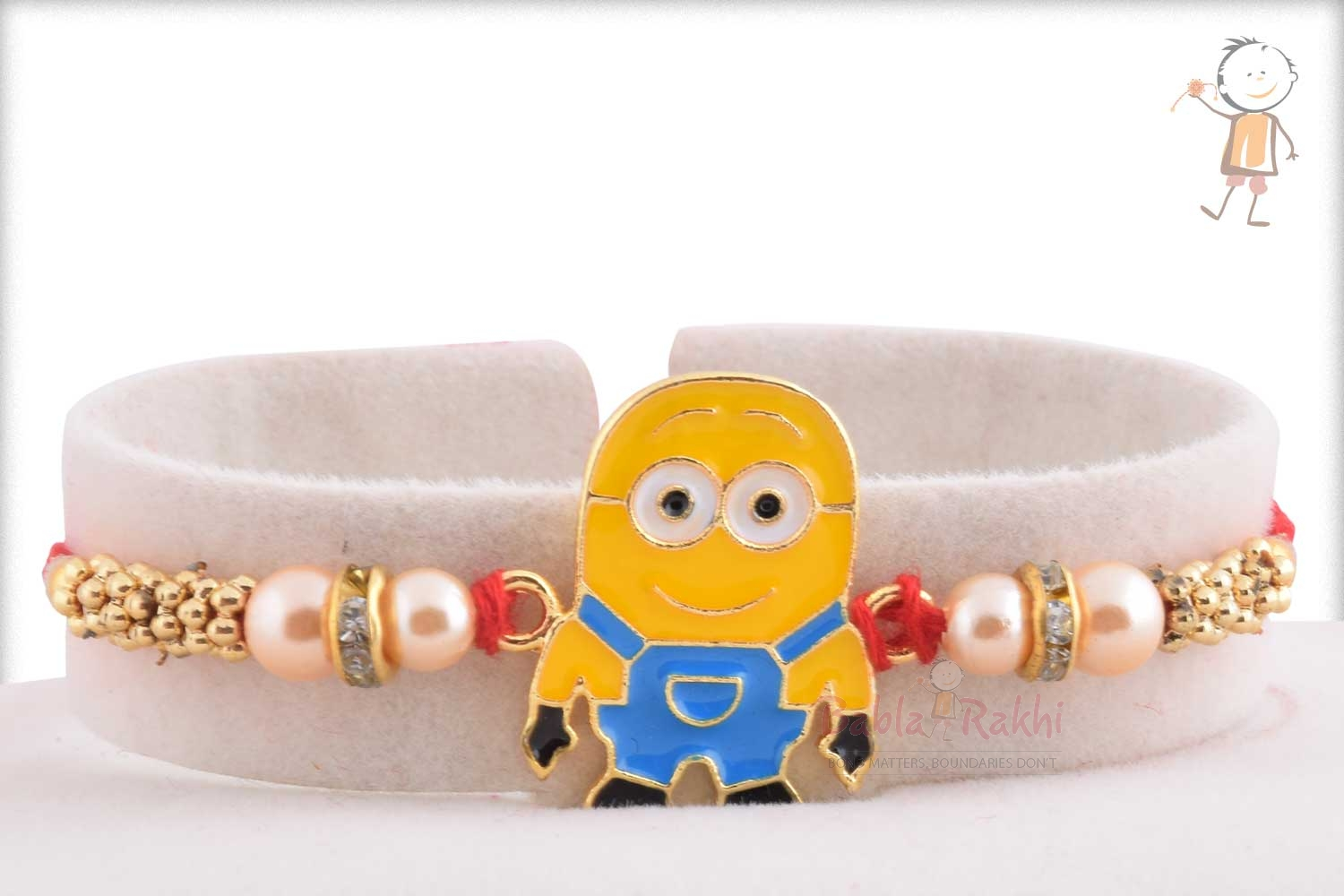 Exclusive Cute Minions Kids Rakhi with Pearl 1