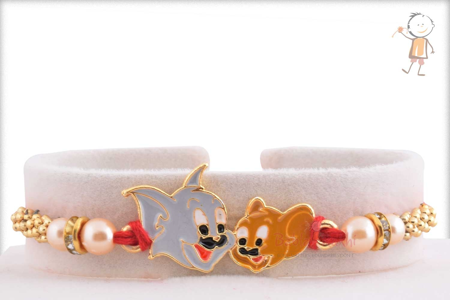 Exclusive Tom Jerry Kids Rakhi with Pearl 1