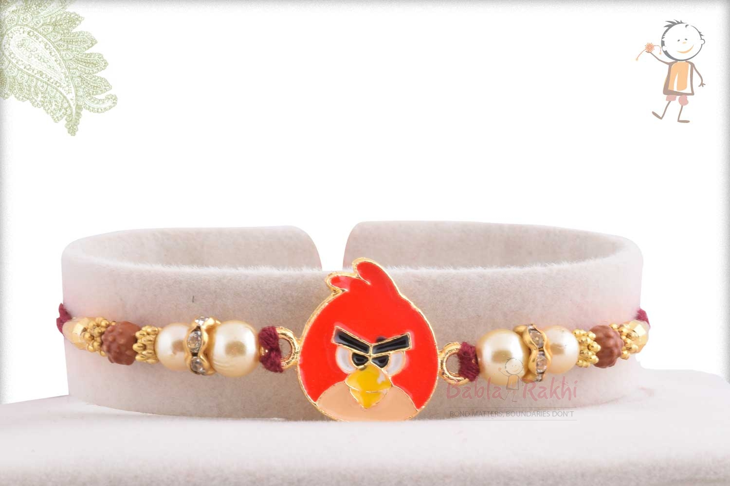 Exclusive Angry Bird Kids Rakhi with Pearl 1
