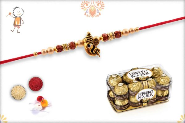 Rakhi with Ferrero Rocher (16) - Babla Rakhi