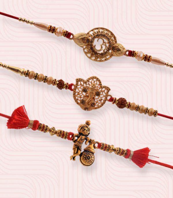Gold Plated Rakhi