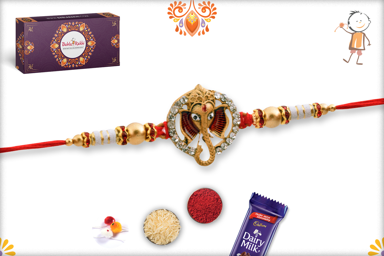 Unique Ganesh Mukharvind With Diamond Rakhi 3