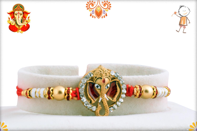 Unique Ganesh Mukharvind With Diamond Rakhi 1