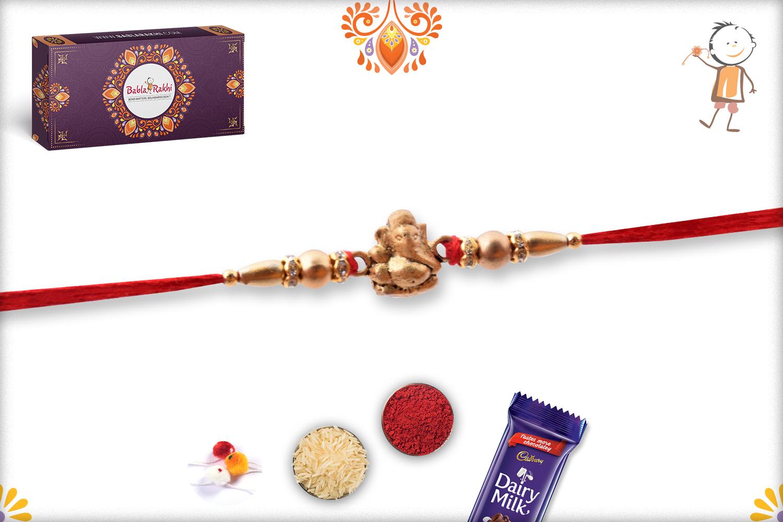 Simple Yet Decent Ganpati Rakhi 3