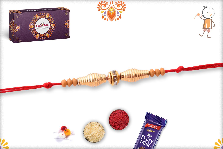 Royal And Unique Golden Rakhi 3
