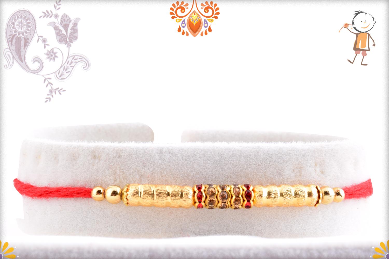 Exclusive Yet Simple Golden Rakhi 1
